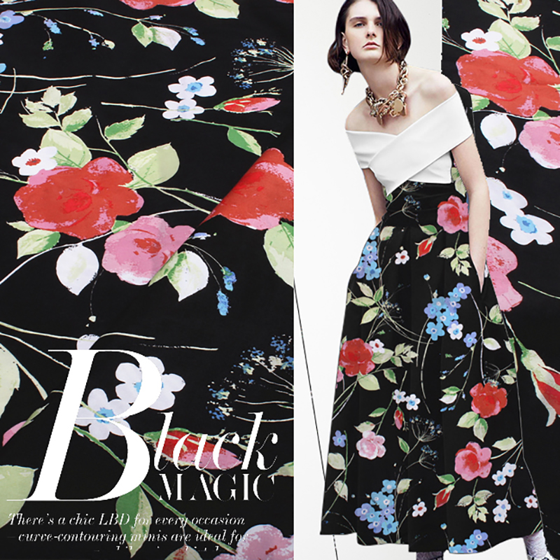 2018 tela estampada de flores 100% tela de algodón para mujer ancho - Artes, artesanía y costura