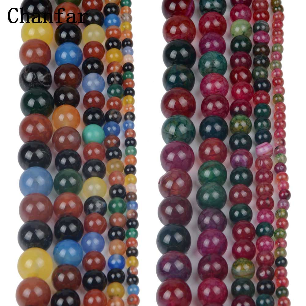 Colorful Beads Natural Stone Women Jewelry Fashion Making Loose Beads