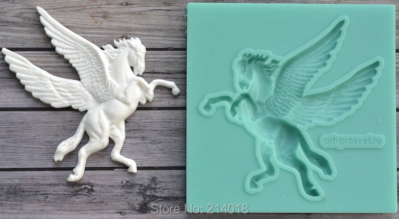 Silicone Mold Pegas Horse Crafts Decorating Cake Candy fondant silicon molds for cake decorations