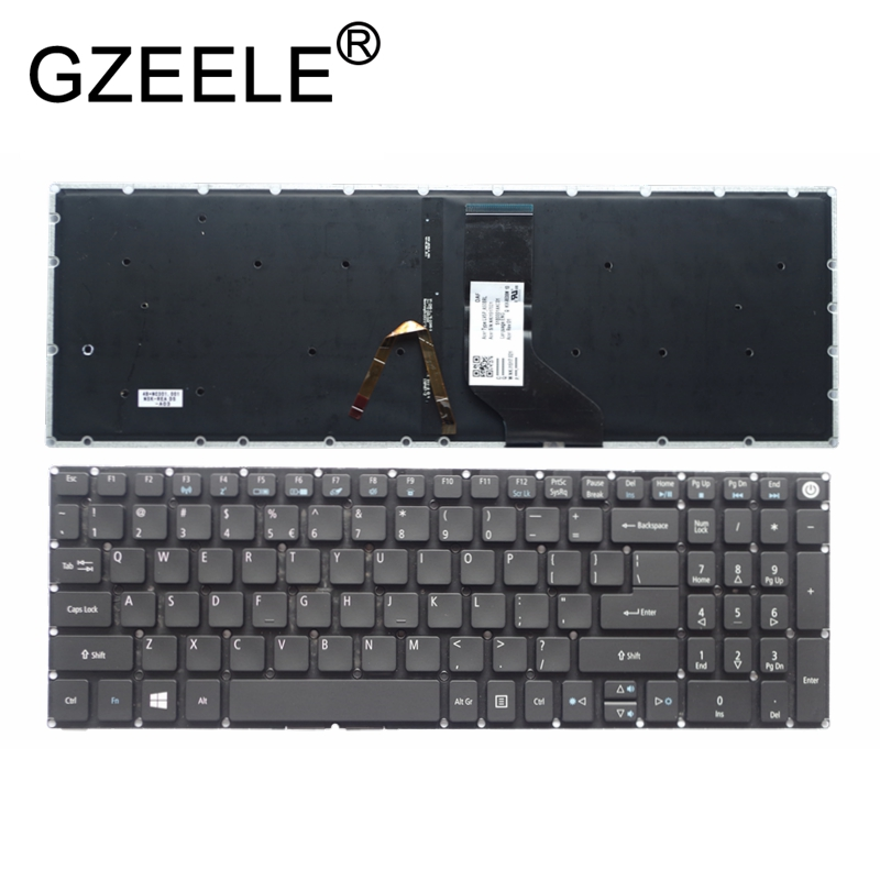 GZEELE New for Acer Aspire 3 A315 A315-21 A315-31 A315-51 A315-52 A315-21G A315-51G Keyboard English US backlit backlight black a315 21g 997l