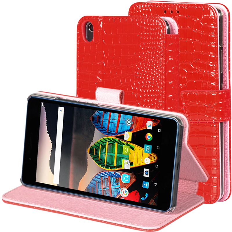For Lenovo Tab 3 7 Plus TB-7703X/7703F 7.0 inch Tablet Crocodile Grain Pattern PU Leather Protective Cover Case + stylus  pu leather cover for lenovo tab3 tab 3 7 plus 7703 7703x colorful print stand case tb 7703x tb 7703f 7 inch tablet cases gift