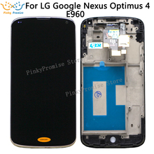 For Lg Nexus 4 E960 Lcd Display Screen WIth Touch Glass DIgitizer+Frame Assembly