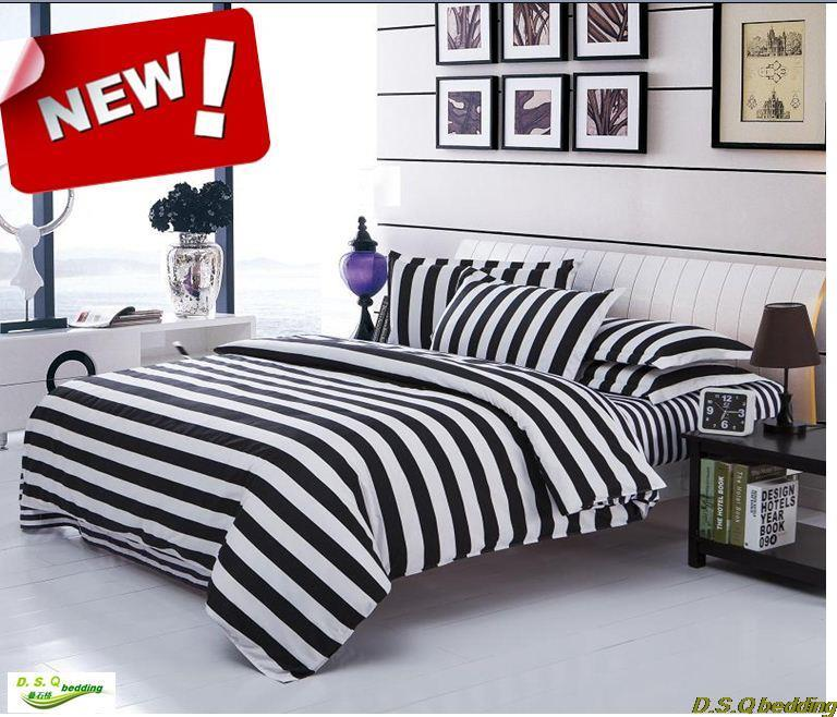 new black white striped zebra kingqueenfull size bedding set