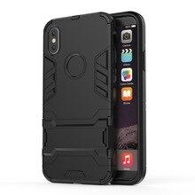 Armure antichoc coque de téléphone anti rayures protection robuste pour iphone xsmax xr 6 7 8 plus SE résistant à La Saleté tpu couverture arrière
