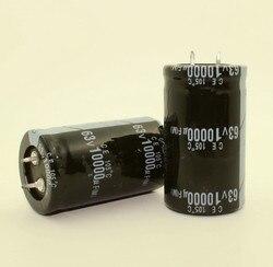 จัดส่งฟรี 24 PCS - 2 PCS 10000 uF 63 V 63 V 10000 uF 63V10000UF Electrolytic Capacitor 30x50 มม. คุณภาพที่ดีที่สุด