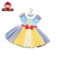 SHOWHAXI Girls Alice Snow White Princess Dress Children S Halloween Costume Party Dress For Kids Yellow