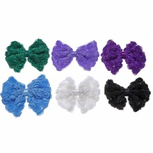 20pcs/lot 3.94 6Colors Chiffon Flower Bows DIY Baby Girls Hair Accessory Supply InstockHandmade Ornament MOMLOVEDIY