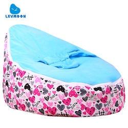 Levmoon Средний просто Lover кресло мешок детская кровать для сна Портативный складной детского сиденья Диван Zac без наполнителя