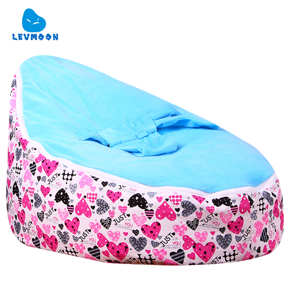 Levmoon Medium Just Lover Bean Bag Chair Kids Bed For Sleeping Portable Folding Child Seat Sofa Zac Without The Filler levmoon medium blue circle print bean bag chair kids bed for sleeping portable folding child seat sofa zac without the filler