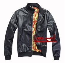 Hot Korean American and European brands jackets men's PU leather jacket machine wagon jacket short paragraph casual coat M-XXL