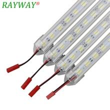 RAYWAY LED Rigid Strip Light 50cm 60LEDs 12V SMD 8520 Double White Aluminum LED Strip Hard Lighting For Under Kitchen Cabinets