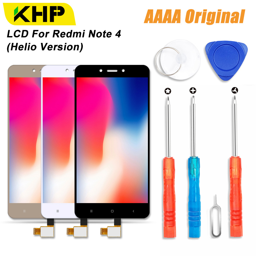 2019 KHP 100% AAAA Original LCD Screen For Xiaomi Redmi Note 4 LCD Helio Version Display Touch Module Screens Replacement2019 KHP 100% AAAA Original LCD Screen For Xiaomi Redmi Note 4 LCD Helio Version Display Touch Module Screens Replacement