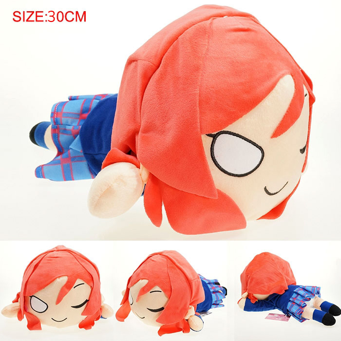 Anime Love Live Plush Toy Lovelive Nishikino Maki Pile Doll Soft Stuffed Plush Pendant Toys Gifts 30cm