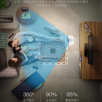 Ventilador QG103 sin hoja, Control remoto inteligente de aterrizaje para el hogar, ventilador de escritorio silencioso con ahorro de energía, aire acondicionado, compañero