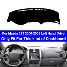 Wnętrze deska rozdzielcza samochodu pokrywa dla Mazda 323 2000-2008 kierownica z lewej strony Dashmat Pad deska rozdzielcza pokrywa dywan mata na deskę rozdzielczą poduszka Anti-sun tanie tanio TAIJS Włókien syntetycznych For Mazda 323 2000 2001 2002 2003 2004 2005 2006 2007 2008