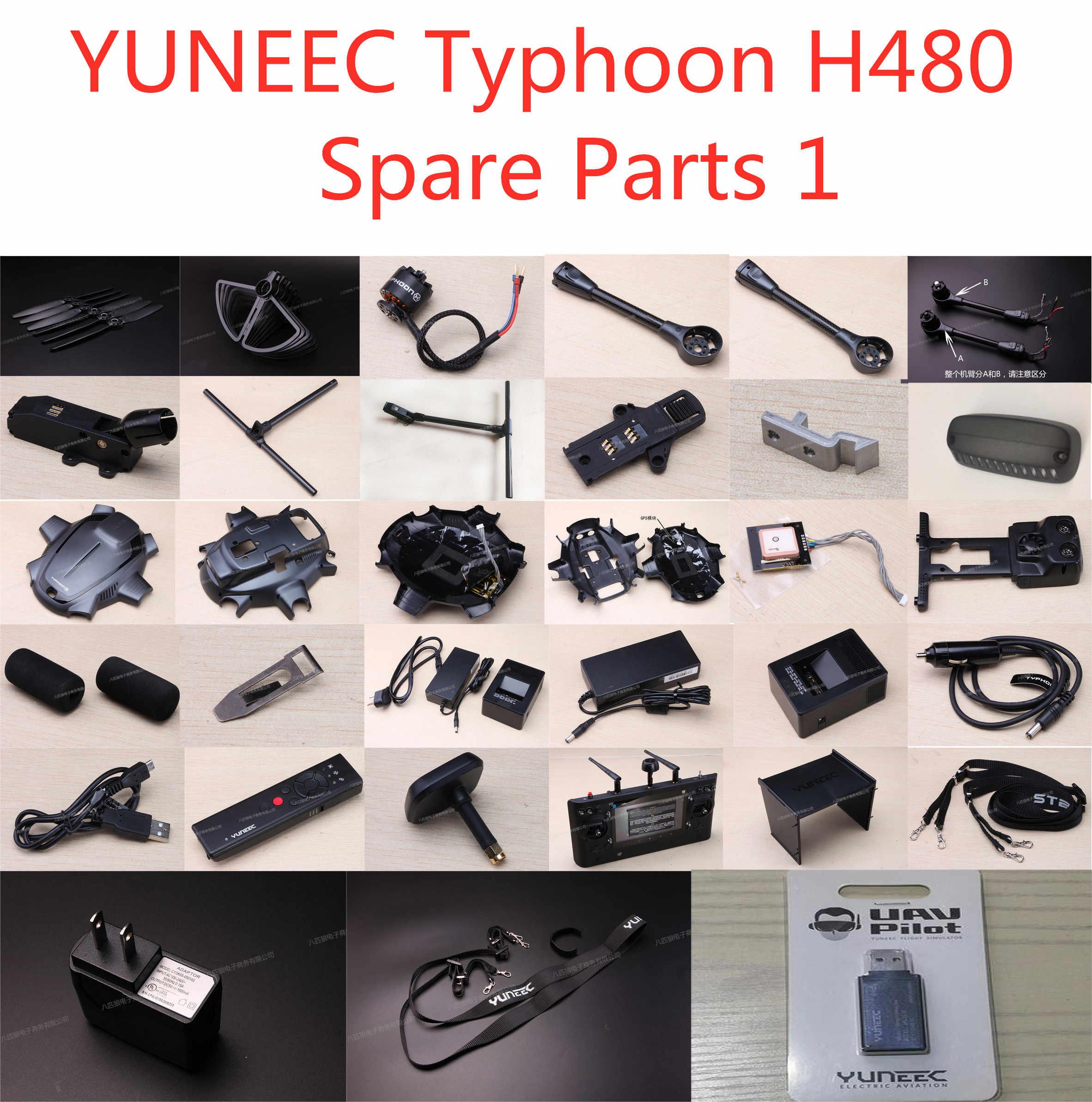 YUNEEC Typhoon H480 FPV Drone recambios de cuadrirrotor RC motor aspas trípode tren de aterrizaje soporte cuerpo carcasa módulo GPS Conjunto 1