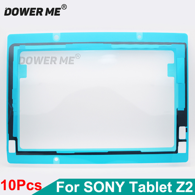 10Pcs/Lot Front LCD Screen Display Sticker Frame Waterproof Adhesive For Sony Xperia Tablet Z2 SGP521/541 SGP511/512/561