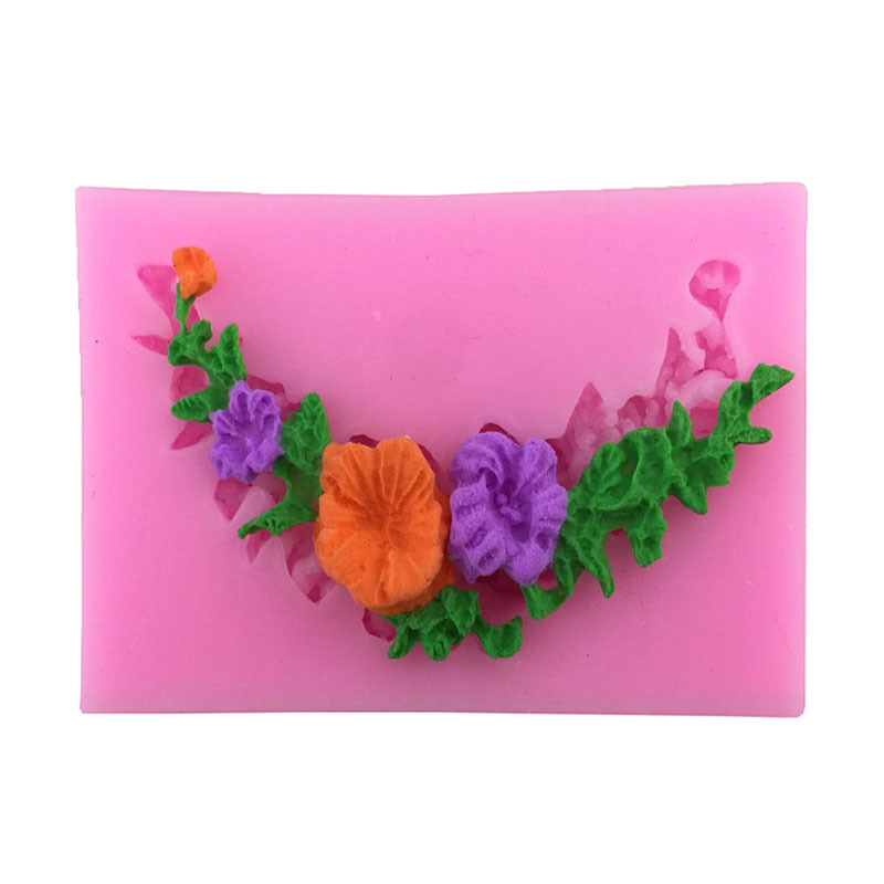 Girlande Blume Kreis Border Zuckermasse Kuchen Formen Schokolade