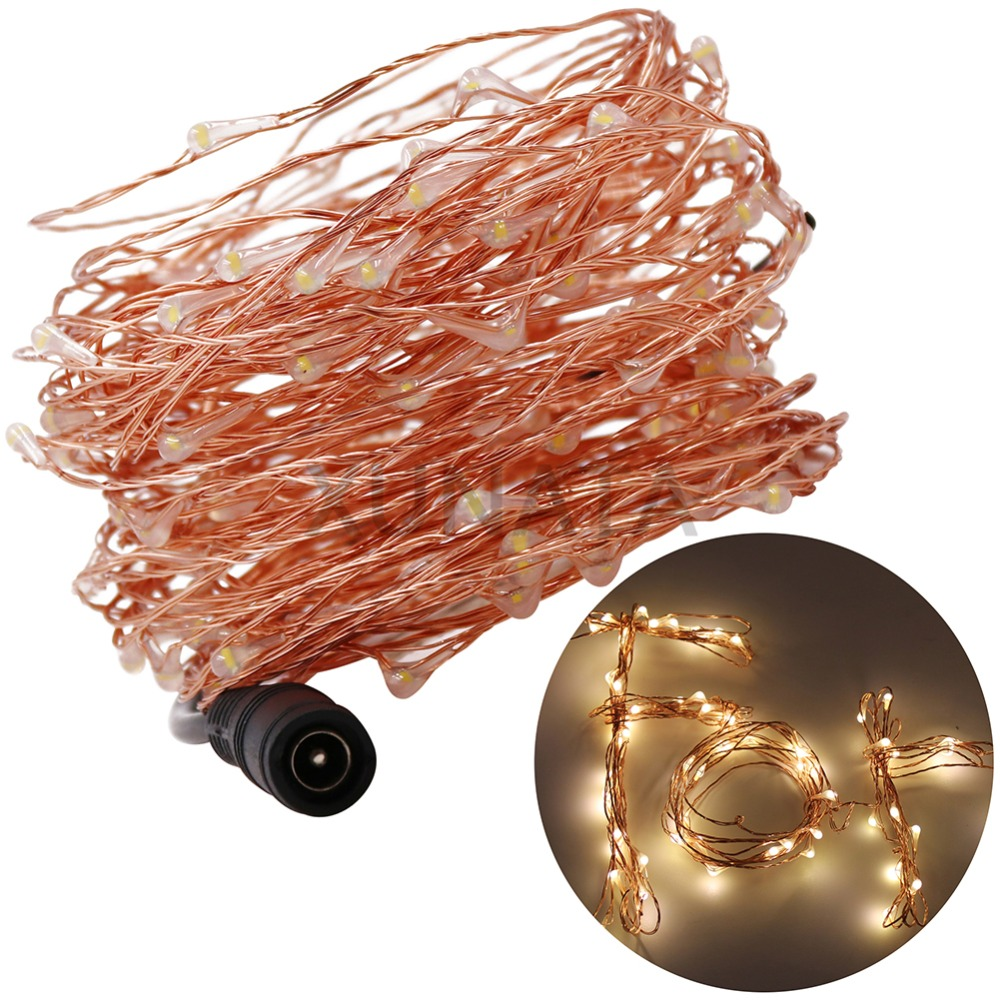 LED String Light + EU/US/AU/UK Plug 10M 100Leds Waterproof Copper Wire Holiday Outdoor Fairy Lights String Party Wedding Decor 2018 3m 220v 20pcs car models night lamp kid children room decor paper string lighting holiday lights eu uk plug luminaria