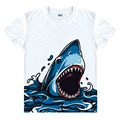 Shark Jaws Movie Vintage Poster men Adult T Shirt Short sleeve fashion unisex T-shirt