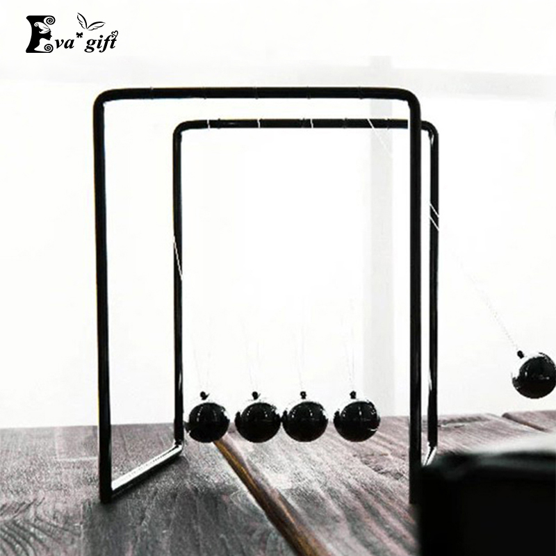 Simple newtons cradle Cool metal ball decoration metal stents Newton pendulum balls for desk ornaments bumper ball pool balls