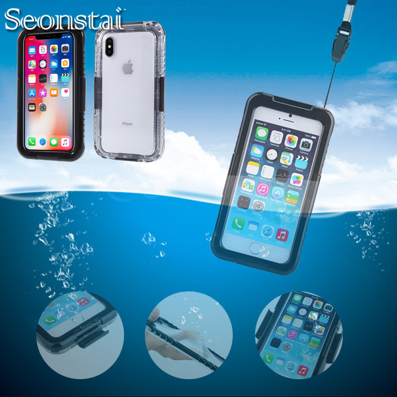 20ft para iPhone 7 caso impermeable buceo bajo el agua para iPhone 6 ...