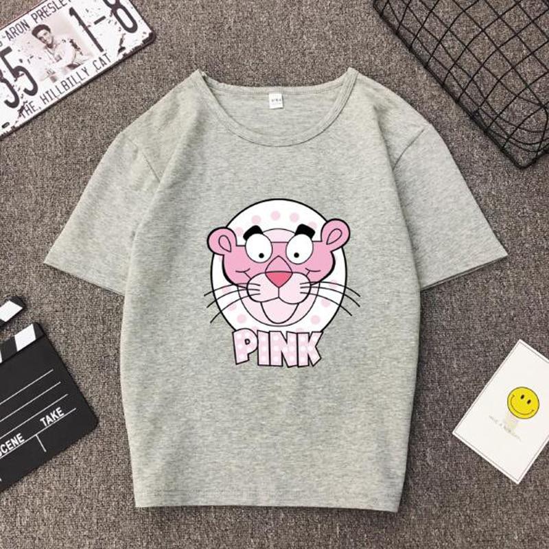 Spring Summer New Style   T     shirt   Women Cute Cartoon Print Short Sleeve O Neck Cotton Spandex Women Tops Slim Fit Women Tshirt
