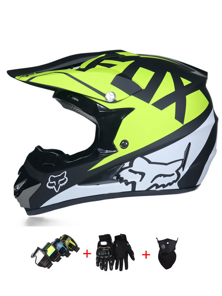 Rockstar Cascos de Motocross de Moto Set con Gafas Guantes M/áscara Ni/ños Ni/ñas Cascos de Cross Deportes y Aire Libre Downhill Enduro Off-Road Casco Racing ATV MTB BMX Cascos de Motos
