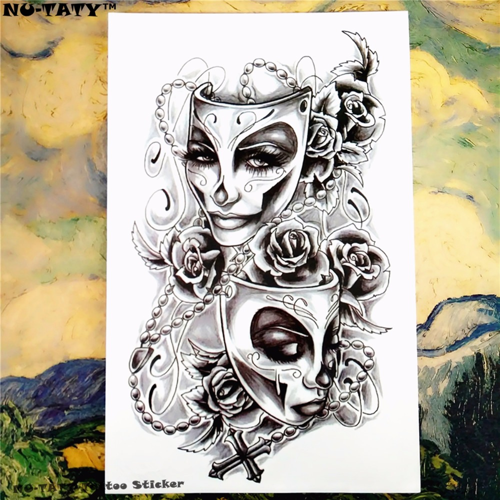 Nu-TATY Phantom of The Opera Temporary Tattoo Body Art Flash Tattoo Sticker 12*cm Waterproof Tatoo Styling Home Decor Sticker 1
