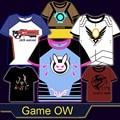Juego OW D. VA/Marcador/76/McCree/Pharah todo Heros Cosplay t-shirt de Verano Primeros camiseta en el envío libre 2016