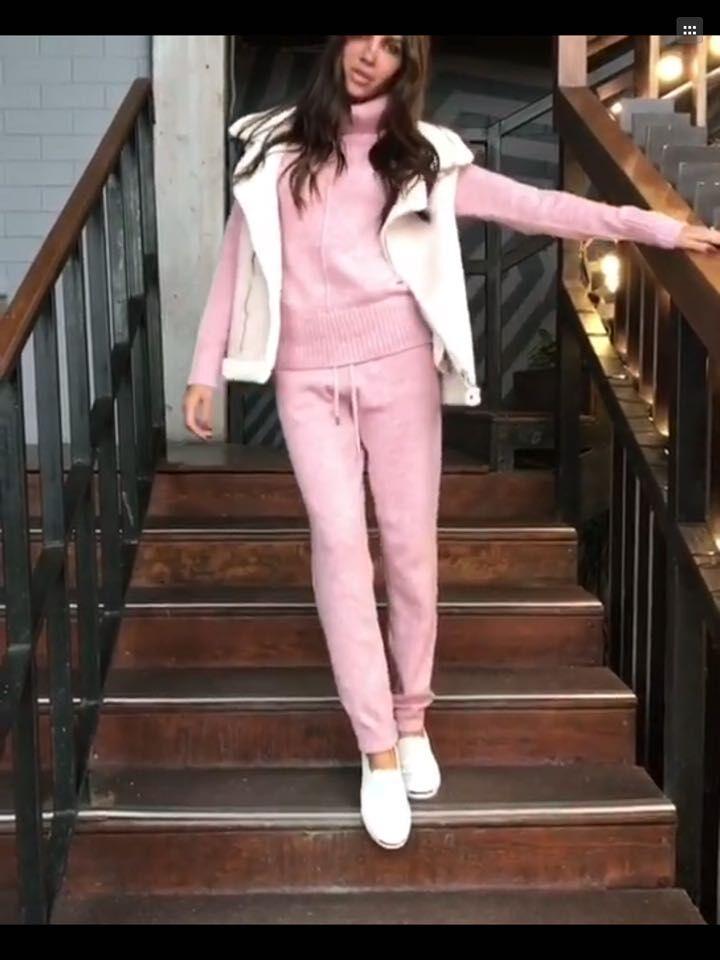 Tricoté Cachemire Roulé Kaki pu Trouse Couleur rose 2017 Casual Pantalon En 4 Costumes Chandail Ciel Femmes Col gris aqxSxzR