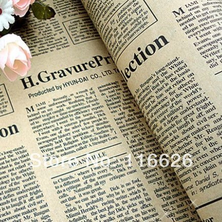 24sheets/lot Size 75x52cm Vintage Newspapers /Maps Pattern DIY gift wrapping paper decoration scrapbooking art kraft paper