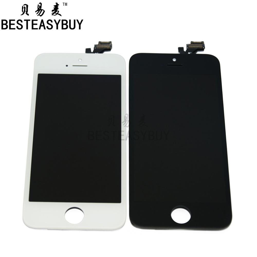 BESTEASYBUY New For Iphone 5 5G LCD Display Touch Screen Digitizer Assembly black white free shipping