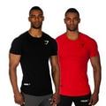 Powerhouse Fit Camisetas Fisiculturismo e Fitness Camisetas SUSPIRO Homens T-shirt de Manga Curta e Treino tshirt Plus Size