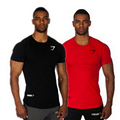 Powerhouse Fit T-shirts Bodybuilding and Fitness T Shirts GASP Men Short Sleeve Tees and Workout tshirt Plus Size