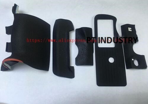 FREE SHIPPING 100 ORIGINAL New D4 5pcs GRIP RUBBER SET With CF Memory Card Door Rubber