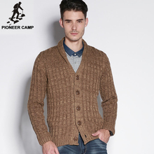 Pioneer Camp.Free shipping!2017 autumn new fashion mens cardigan sweater casual mens coat cardigan cotton men knitwear sweater