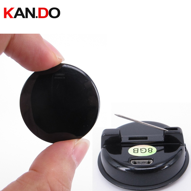 8GB badge shape voice activated One key recorder voice recorder clip audio recorder digital voice recorder music audio player