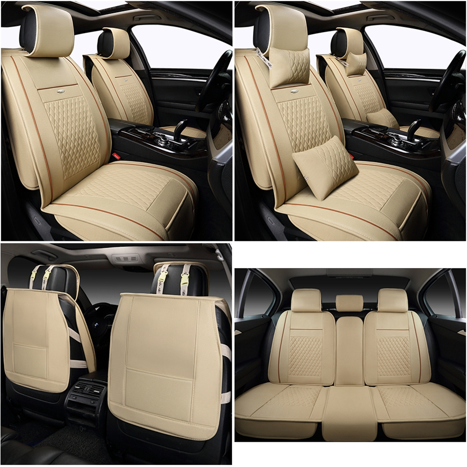5 seats leather Car Seat Cover car styling fit NISSAN Pulsar LEAF Altima Rogue Cefiro FUGA