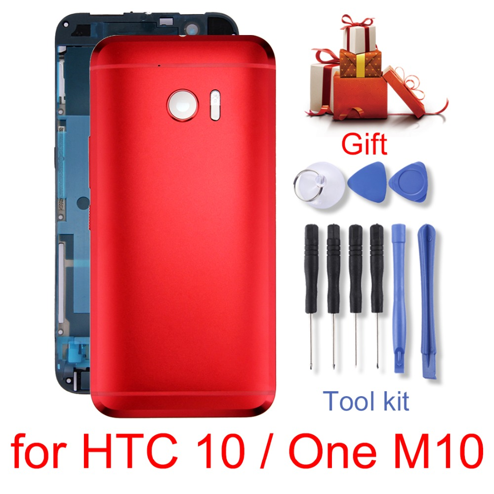 H New for <font><b>HTC</b></font> 10 / One <font><b>M10</b></font> Full Housing Cover (Front Housing LCD Frame Bezel Plate + Back Cover) <font><b>repair</b></font> parts image