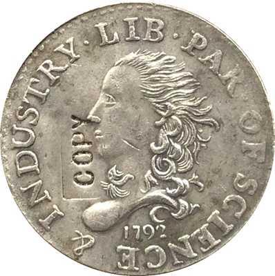 Sỉ 1792 Nửa Disme Đồng Tiền Copy 100% coper sản xuất Bạc