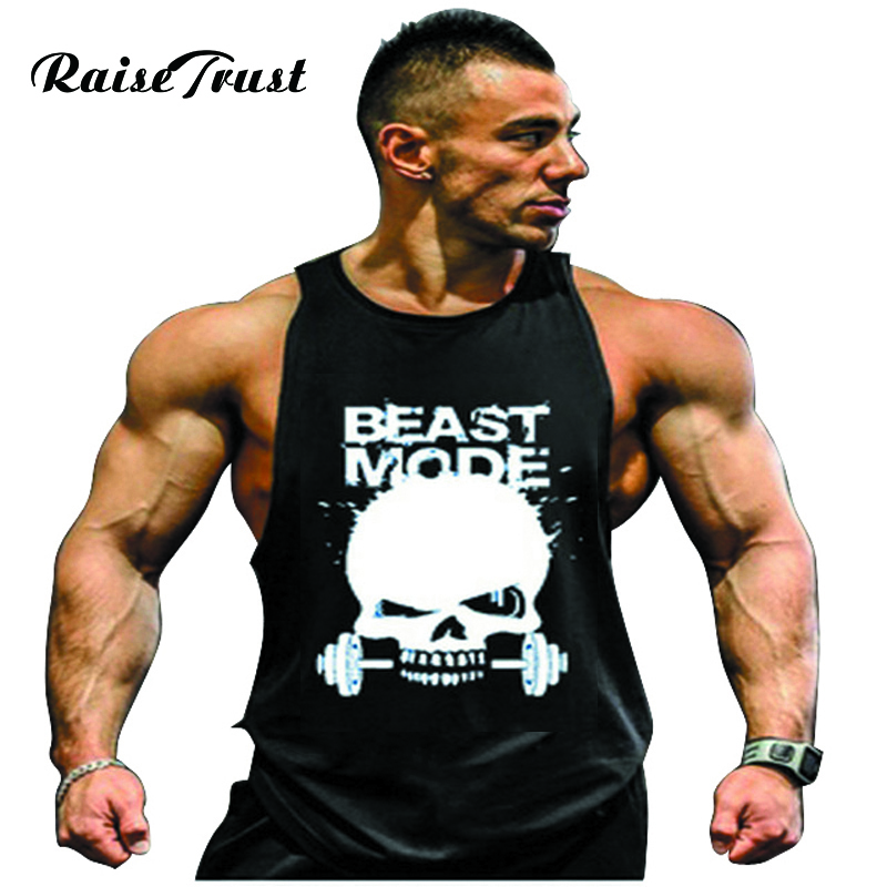 b687c10e56017 Mens sexy cotton tank top men bodybuilding clothing Sleeveless tops vest  fitness Big Size Fit 100KG shirt muscle loose gyms
