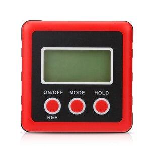 Image 4 - Inclinómetro Digital de precisión roja, caja de nivel a prueba de agua, buscador de ángulo Digital, caja cónica con Base magnética