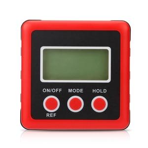 Image 4 - Inclinomètre de rapporteur numérique de précision rouge boîte de niveau étanche à leau boîte de biseau de détecteur dangle numérique avec Base magnétique