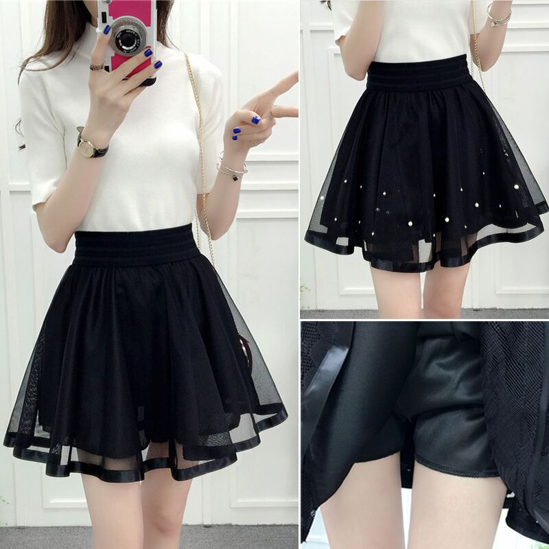 Harajuku 2018 Women Fashion Summer High Waist Pleated Skirt Cosplay Kawaii Fashion Sexy Girl Mini Skirt 6