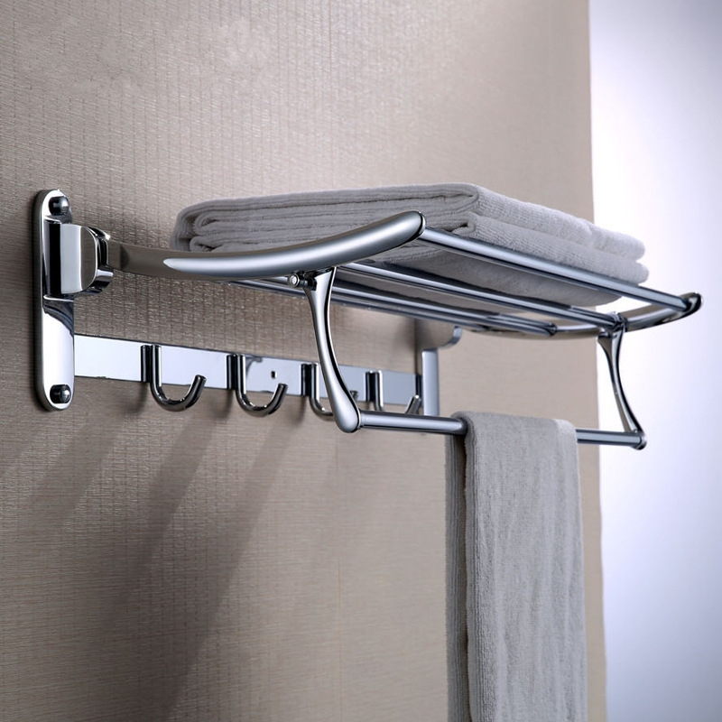 High quality  304 stainless steel bath towel holder Bathroom towel rack Bathroom shelf  chrome plating Bathroom accessories high quality stainless steel wire drawing water glass holder panel 1pcs for lexus 2016 rx200 rx450h accessories