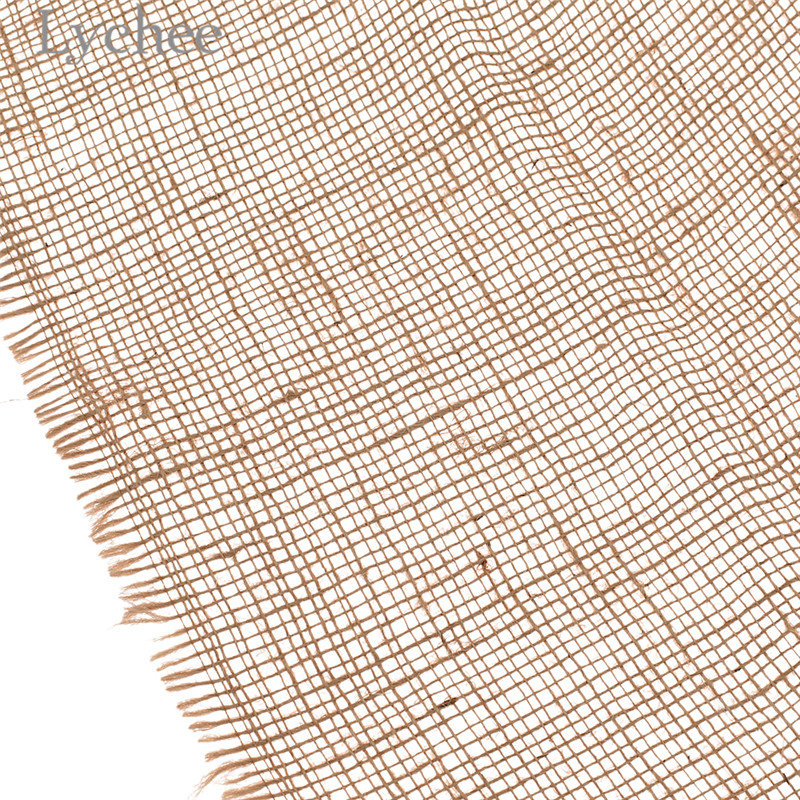 Lychee 50x160cm Natural Jute Fabric Retro Style Fabric DIY Handmade Materials For Bags Decorations 2