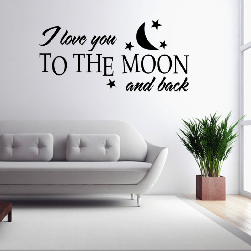 Wall sticker quotes decals poster poster muslim for Living room quote stickers