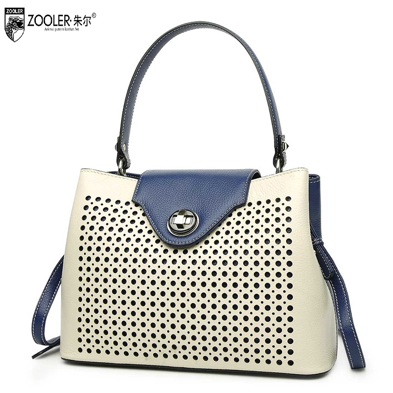 2017 bags handbags women famous brands genuine leather bags ladies classic Bags ZOOLER woman tote shoulder bags hollow out#1631
