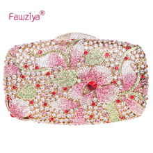 Fawziya Bag Flower Luxury Flower Purse Women's Rhinestone Crystal Clutch Evening Bag